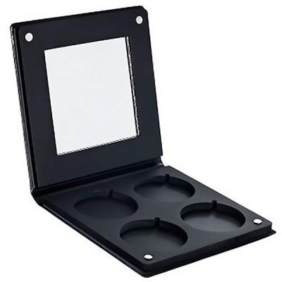 Палитра-кейс с зеркалом для пудр/теней/румян Make-Up Atelier Paris PRR4 Ø 36 мм на 4 цветов, черная: фото