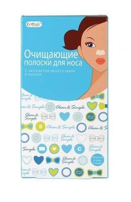 Очищающие полоски для носа CETTUA: фото