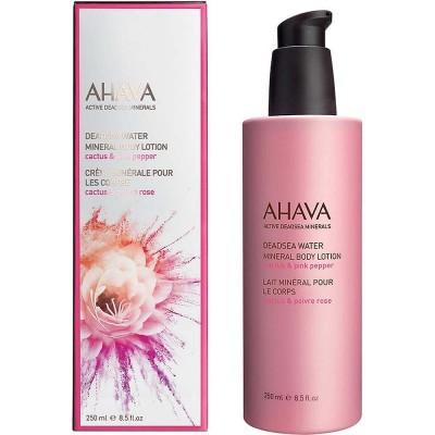 Минеральный крем для тела кактус и розовый перец Ahava Deadsea Water 250 мл: фото