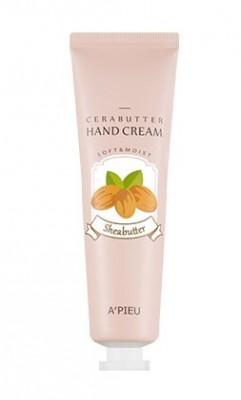 Крем-баттер для рук с маслом ши A'PIEU Cerabutter hand cream shea butter 35 мл: фото
