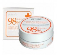 Патчи для глаз с коэнзимом Q10 и 98% коллагеном PETITFEE Hydro gel collagen and Q10 eye spot patch 60 шт: фото