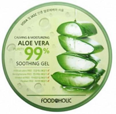 Гель многофункциональный с алоэ вера 99% FoodaHolic Calming and Moisturizing Aloe Vera Soothing Gel 300мл: фото
