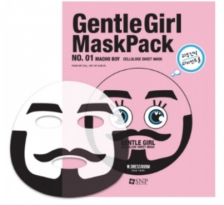 Успокаивающая маска SNP Gentle girl macho boy soothing mask: фото
