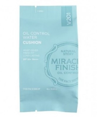 Кушон для жирной кожи THE FACE SHOP Oil control water cushion SPF50 запаска V201 15г: фото