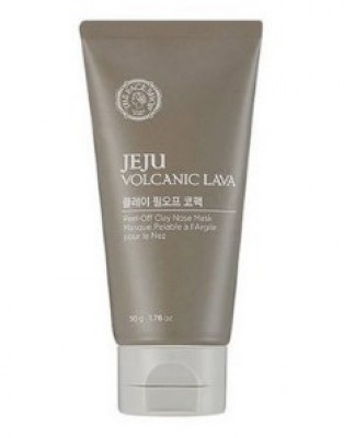 Маска с вулканическим пеплом для кожи носа THE FACE SHOP Jeju volcanic lava peel off clay nose 50г: фото