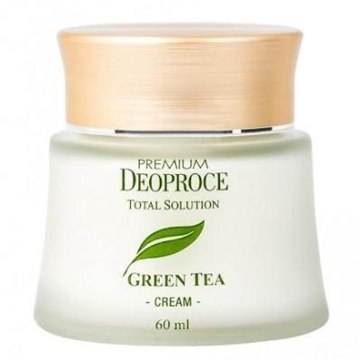 Крем с зеленым чаем DEOPROCE Premium green tea total solution cream 60мл: фото
