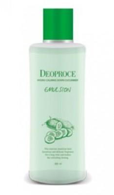 Эмульсия для лица успокаивающая с экстрактом огурца DEOPROCE Hydro calming down cucumber emulsion 380мл: фото