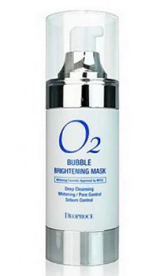Маска кислородная для лица осветляющая 4в1 DEOPROCE O2 Bubble brightening mask 100мл: фото