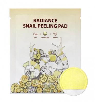 Пилинг-пэд с муцином улитки SEANTREE Radiance snail peeling pad 20мл: фото