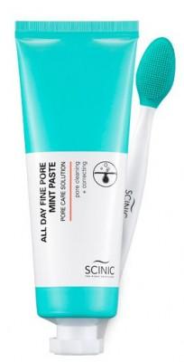 Глиняная маска-паста для очищения пор SCINIC All day fine pore mint paste 80мл: фото