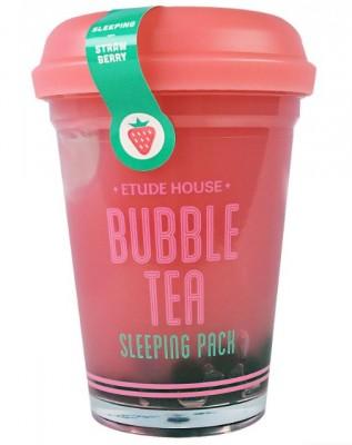 Маска ночная с экстрактом клубники ETUDE HOUSE Bubble Tea Sleeping Pack Strawberry: фото