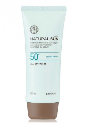 Солнцезащитный увлажняющий крем THE FACE SHOP Natural Sun Eco No Shine Hydrating Sun Cream SPF50 100 мл: фото
