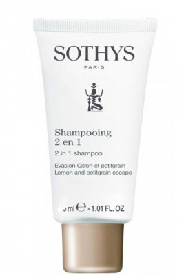 Шампунь-кондиционер Лимон и петитгрейн SOTHYS 2in1 Shampoo - Lemon & Petitgrain Escape 75 мл: фото