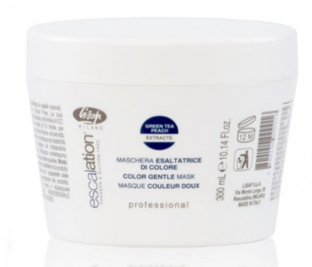 Маска для сохранения цвета и восстановления окрашенных волос LISAP MILANO Escalation Color Gentle Mask 300 мл: фото