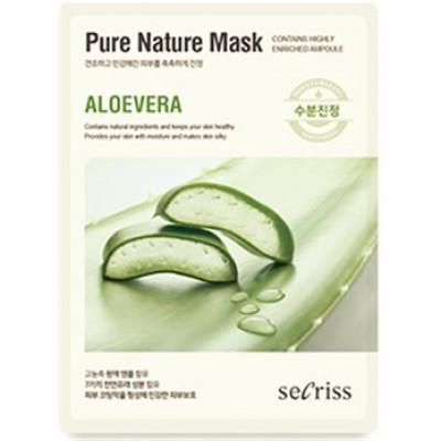 Маска для лица тканевая Secriss Pure Nature Mask Pack- Aloevera 25мл: фото