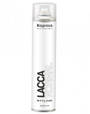 Лак аэрозольный для волос нормальной фиксации Kapous Styling 500мл: фото