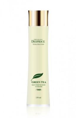 Тонер на основе зеленого чая DEOPROCE PREMIUM GREENTEA TOTAL SOLUTION TONER 150ml: фото