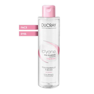 Мицеллярная вода увлажняющая для лица и глаз Ducray Ictyane Eau micellaire hydratante 200 мл: фото