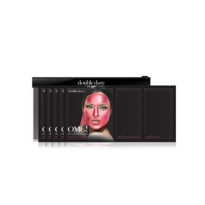 Трехкомпонентный комплекс масок СИЯНИЕ И РОВНЫЙ ТОН Double Dare OMG! Platinum Hot Pink Facial Mask Kit 5 шт: фото