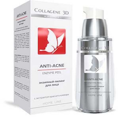 Гель-пилинг для лица энзимный Collagene 3D ANTI-ACNE 30 мл: фото