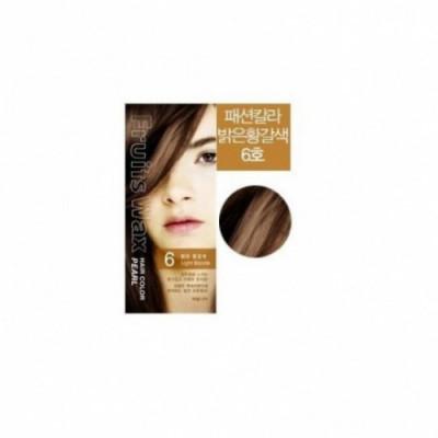 Краска для волос на фруктовой основе Welcos Fruits Wax Pearl Hair Color #06 60мл*60гр: фото