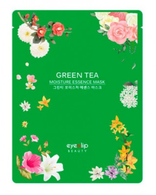 Маска для лица тканевая Eyenlip GREEN TEA OIL MOISTURE ESSENCE MASK 25мл: фото