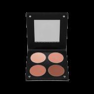 Палетка румян с зеркалом, 4 оттенка Make-Up Atelier Paris BL3DBO коричнево-оранжевый 96г: фото
