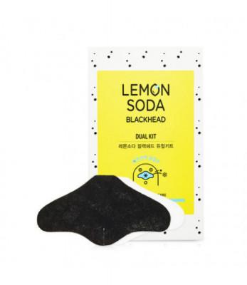 Двух-шаговая система очищения пор с экстрактом лимона и соды ETUDE HOUSE LEMON SODA BLACKHEAD DUAL KIT: фото