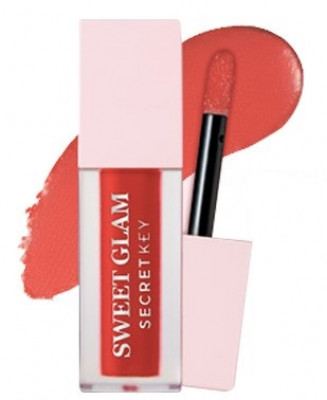 Тинт для губ вельветовый SECRET KEY Sweet Glam Velvet Tint 03 My Rose 5г: фото