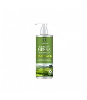 Маска для волос с зеленым чаем и хной DEOPROCE GREENTEA HENNA PURE REFRESH HAIR PACK 1000мл: фото