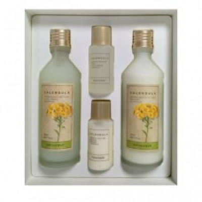 Набор для лица с экстрактом календулы The Face Shop Calendula Essential Misture Skincare Set: фото