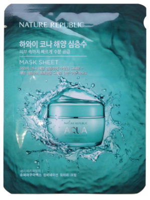 Маска для лица тканевая Nature Republic SUPER AQUA MAX COMBINATION WATERY MASK SHEET SAMPLE 20мл: фото