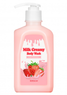 Гель для душа Berrisom G9 MILK CREAMY BODY WASH STRAWBERRY 520г: фото
