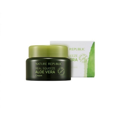 Крем с экстрактом алоэ вера NATURE REPUBLIC REAL SQUEEZE ALOE VERA CREAM 50 мл: фото