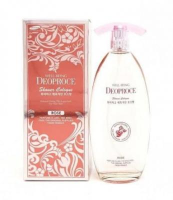 Спрей для душа парфюмированный DEOPORCE WELL-BEING SHOWER COLOGNE ROSE 150мл: фото
