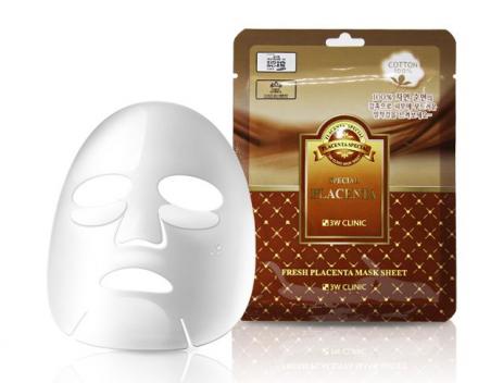 Тканевая маска для лица ПЛАЦЕНТА 3W CLINIC Fresh Placenta Mask Sheet 10 шт: фото