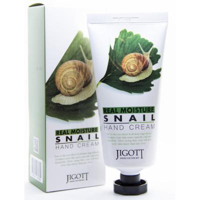 Крем для рук с муцином улитки JIGOTT Real Moisture Snail Hand Cream: фото