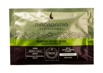 Маска питательная увлажняющая для всех типов волос Macadamia Nourishing Moisture Masque 30мл: фото