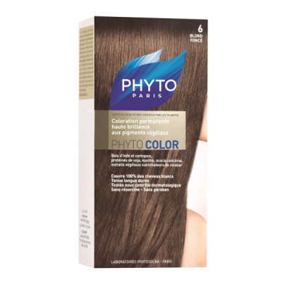 Краска для волос Phytosolba PhytoCOLOR №6 Темный блонд СДВОЙКА2*60/40/12 мл: фото