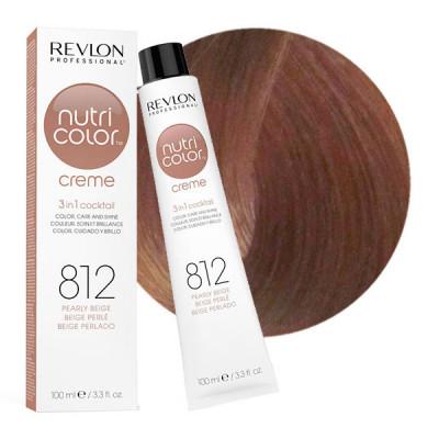 Краска для волос без аммиака Revlon Professional Nutri Color Creme 812 Жемчужно Бежевый 100мл: фото