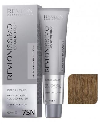 Краска перманентная Revlon Professional Revlonissimo Colorsmetique 7SN Блондин супернатуральный 60мл: фото