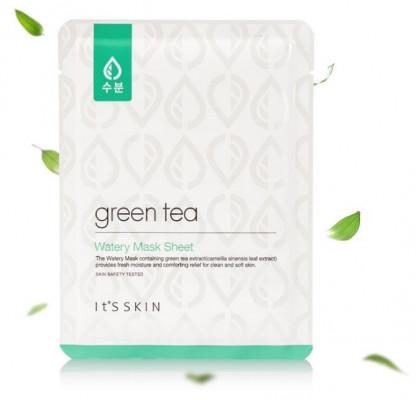 Тканевая маска для жирной и комбинированной кожи с зеленым чаем It'S SKIN Green Tea Watery Mask Sheet 17 г: фото
