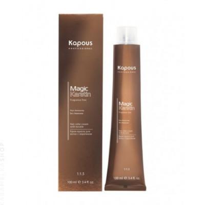 Крем-краска для волос с кератином Kapous Professional Magic Keratin - 6.00 Темный блондин интенсивный, 100 мл: фото