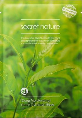 Тканевая маска для лица с зеленым чаем Secret Nature Deep Moisturizing Green Tea Mask Sheet 25 мл: фото