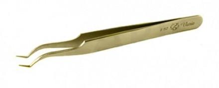 Пинцет для объемного наращивания ресниц Flario S2-Gold: фото
