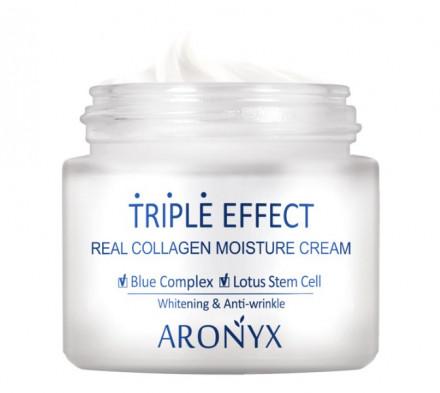 Крем для лица с морским коллагеном MediFlower Aronyx Triple Effect Moisture Cream 50 мл: фото