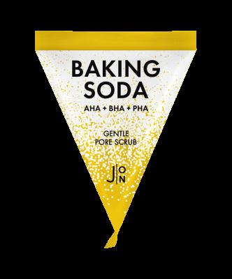 Скраб для лица с содой J:ON BAKING SODA GENTLE PORE SCRUB 5г*20: фото