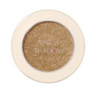 Тени для век с глиттером THE SAEM Saemmul Single Shadow Glitter BE11 Dim Beige: фото