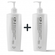 1+1 Набор из 2 протеиновых шампуней для волос ESTHETIC HOUSE CP-1 BC Intense Nourishing Shampoo, 500 мл