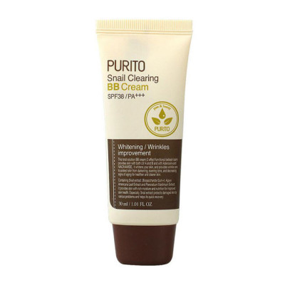 BB-крем с муцином улитки PURITO Snail Clearing BB cream №27 Sand Beige 30мл: фото